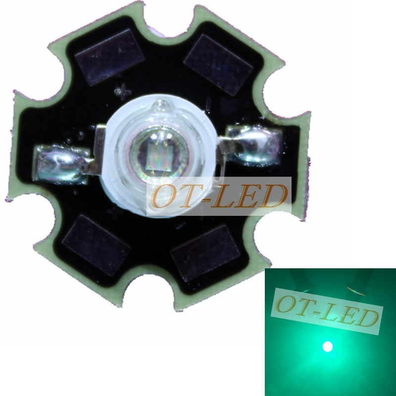 50PCS 3W Cyan <font><b>Led</b></font> Emitter Light <font><b>490nm</b></font>-495nm 3.2-3.4V 350mA-600mA On 20mm Black PCB Board For House/Party/Architecture Decoration image