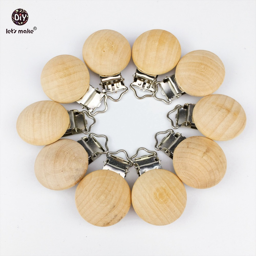 Let/'s Make 20pcs Pacifier Clip Making Wooden Soother Clip Nursing Accessories