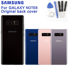 Original SAMSUNG Back Battery Cover For Samsung GALAXY Note8 SM-N950F N9500 N9508 Cases Phone Glass Backshell