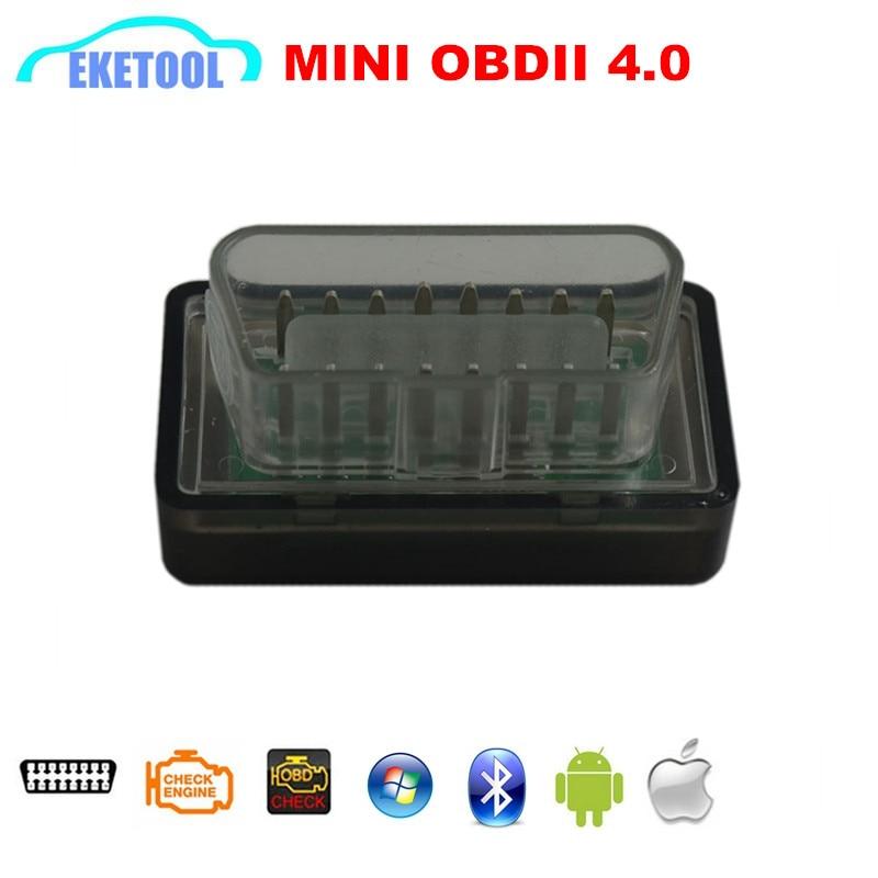 Prix pour OBDII Voiture De Diagnostic Scanner ELM327 Bluetooth MINI OBD 4.0 Pour iOS/Android/Symbian/Windows OBD ELM 327 véhicule Lecteur de Code Outil