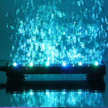 16cm Underwater Submersible Fish Tank Light Color Changing LED Air Bubble Aquarium Lamp Oxygen for tank