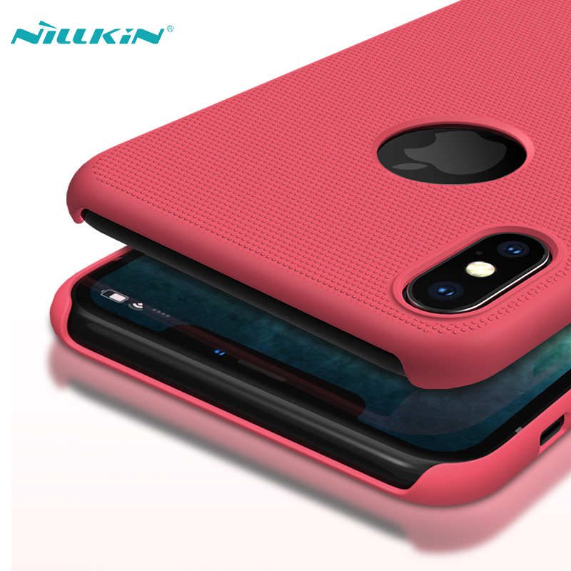 For iPhone XS Max 6 5 Case Cover NILLKIN Super Frosted Shield Matte Hard PC Case For Apple iPhone XS Max Phone Back Covers in Half wrapped Cases from Cellphones Telecommunications