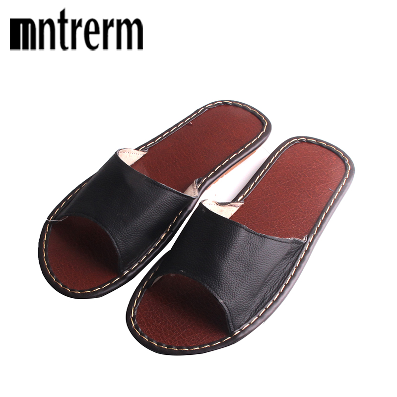 High Quality Spring Home Slippers Couples Genuine Cow Leather Leisure Slides Lamb Wool Cow Muscle Women  Indoor Floor SlippersHigh Quality Spring Home Slippers Couples Genuine Cow Leather Leisure Slides Lamb Wool Cow Muscle Women  Indoor Floor Slippers