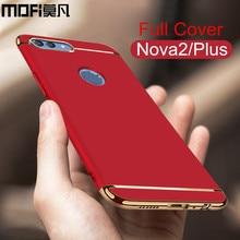 Huawei nova 2 plus cas nova2, plus la couverture arrière joint dur luxe complet protéger téléphone capas rouge MOFi d'origine huawei nova 2 cas