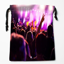 Best People and Music Drawstring Bags Custom Storage Printed Receive Bag Compression Type Bags Size 18X22cm Storage Bags