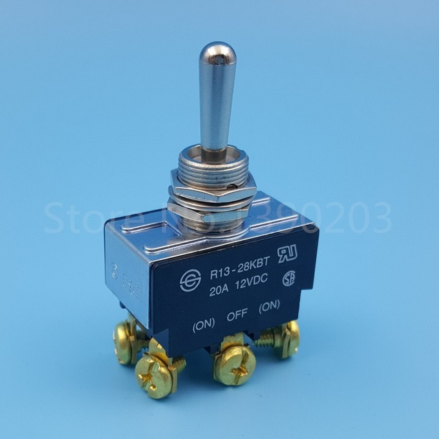 R13 28KBT SCI Metal Lever (ON) OFF (ON) Momentary DPDT Toggle Switch ...