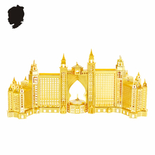 ATLANTIS HOTEL NANYUAN B22203T Yellow Brass 1:1500 Full Built 3D Metal Assembly Model etching Puzzle Home Souptoys