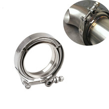 цена на 1pcs 3'' Inch SS304 V-Band Clamp Stainless Steel M/F 3 v band Turbo Exhaust Downpipe car tool