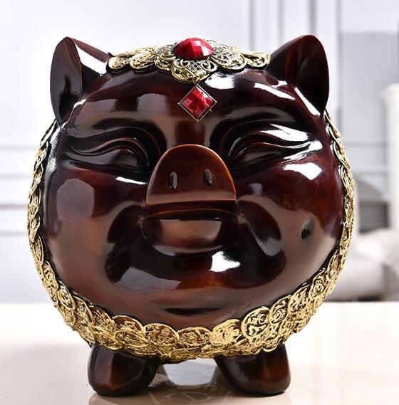 祝福豚貯金箱もたらす富コインリビングルームの家の装飾樹脂工芸品像ショップオープニングと移転ギフト -