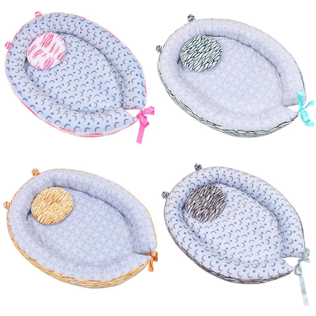 Portable Baby Nest Bed Cotton Cradle Unicorn Print Baby Bassinet Bumper Folding Sleeper For Newborn Travel Bed Z06