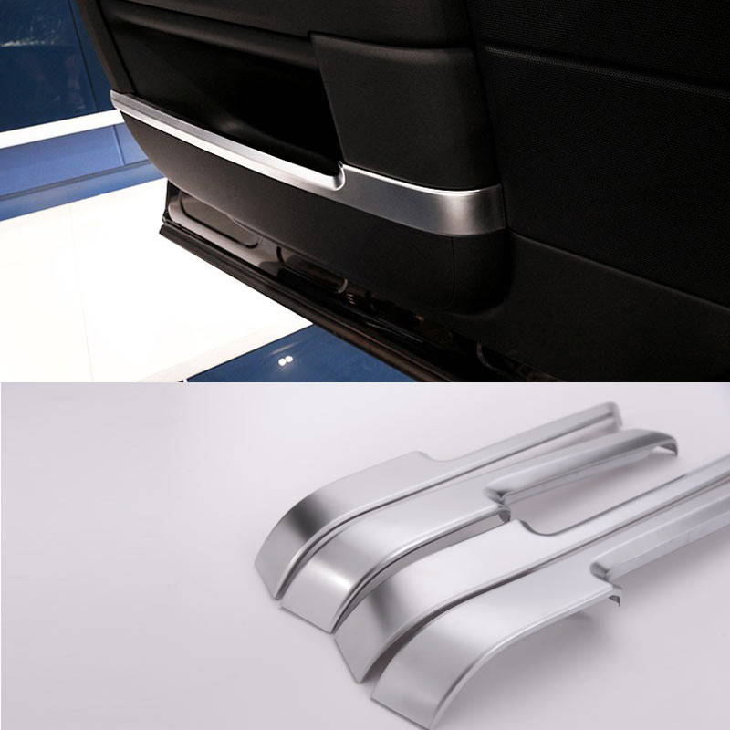 4pcs/set For Landroover Range Rover Vogue Car-Styling ABS Chrome Interior Door Decoration Strips Trim Accessories Sticker New excellent 4pcs set chrome plated door handle covers car sticker for volkswagen vw sagitar car styling door handle chrome sticker