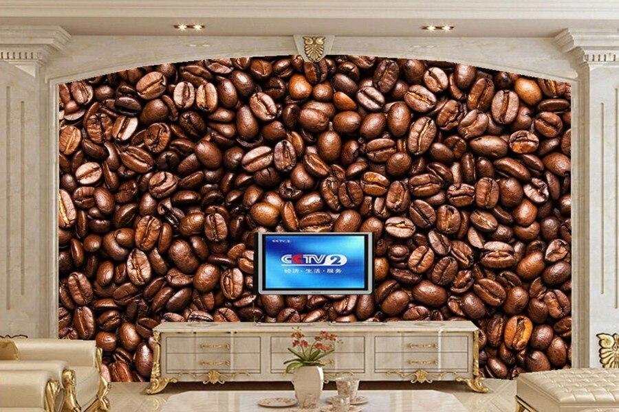 Custom 3d murals.Coffee beans wallpapers,coffee shop restaurant kitchen living room tv sofa wall bedroom waterproof wallpaper