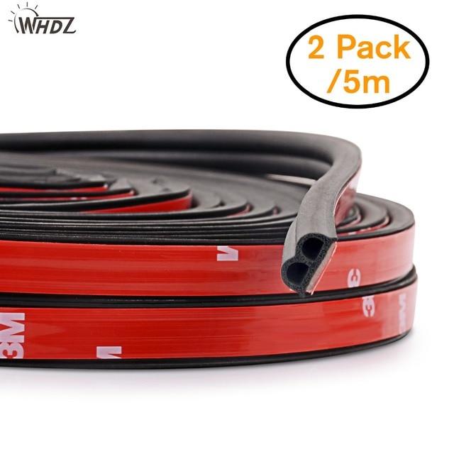 WHDZ 1Pcs/Pair 5M Self Adhesive Automotive Rubber Seal Strip Weatherstrip for Car Window Door edge anti collision rubber strip