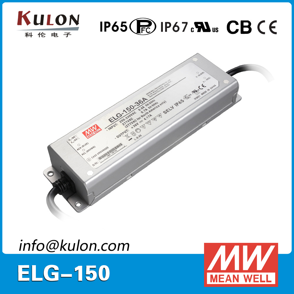 Original Meanwell Power Supply ELG-150-48B 150W 3.13A 48V IP67 dimming mean well LED driver ELG-150 original mean well 150w 48v ip67 waterproof led driver clg 150 48 150w 48v 3 2a pfc cable connected meanwell power supply 48v