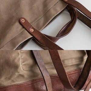 Image 5 - AETOO 스트리트 패션 크로스 팩 빈티지 캔버스 대용량 핸드백