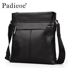 Padieoe Luxury Men Bag Genuine Leather Men Messenger Bags Business One Shoulder Crossbody Bag