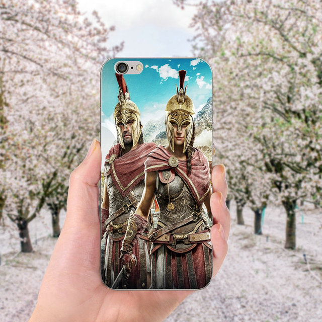 Soft TPU Silicone Cell Phone Cases for iphone X Case Back Cover for iphone 6S 7 8 Plus 4 4S 5 5S SE Bags Assassins Creed Odyssey 3