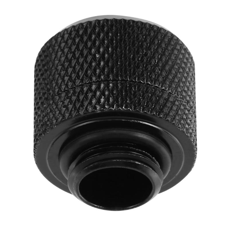 Water Cooling Fittings G1//4 Brass External Thread Hose Adapter Connector for 10x16mm Soft Tube Computer PC Water Cooling System Black