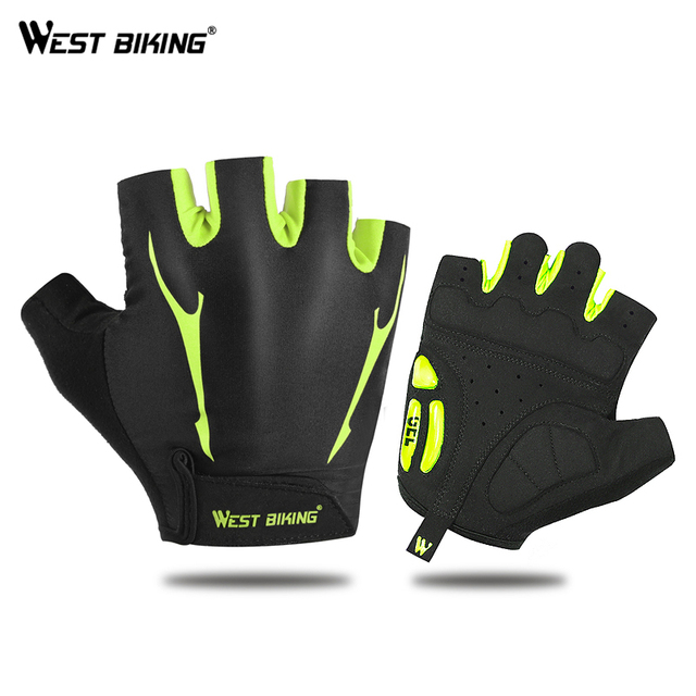 WEST BIKING Cycling Gloves Non-Slip Breathable Men Women's Summer Sports Bike Gel Pad MTB Bicycle Cycling Half Finger Gloves