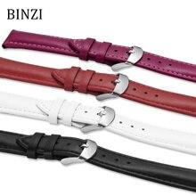 купить Leather Watchband 2019 New Men Women Watch Band 22mm 20mm 18mm 16mm 14mm 12mm Wrist Watch Strap Watchbands Bracelet Metal Buckle по цене 149.15 рублей