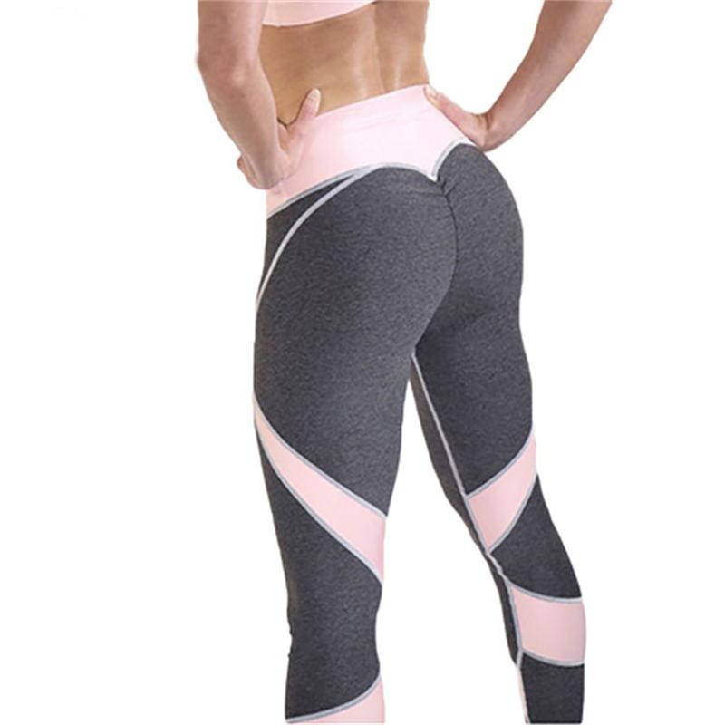 2018 sportswear for women bodybuilding grey slim sexy legging female pants sale Hot sale patchwork heart hip leggings