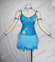 Latin Dance Waltz Tango Ballroom Dance Dress Girls Women Modern Dance Perform Costume Wear LD 0020