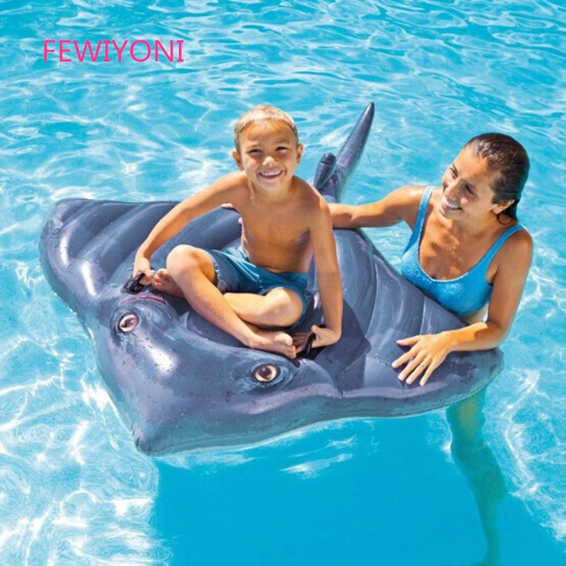 FEWIYONI New inflatable swimming float ball squid mount swimming ring water fun floating toy air mattress lifebuoy equipment