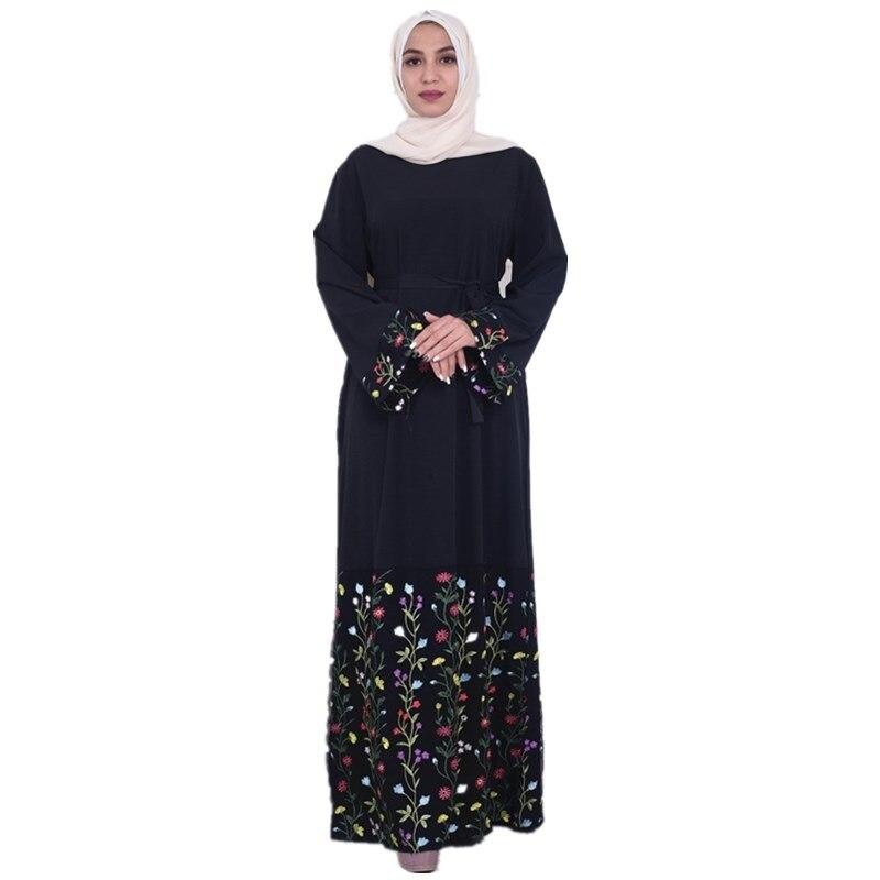 401dfd9c26d00 Arab Vestidos 2019 Long UAE Abaya Dubai Kaftan Kimono Linen Maxi ...