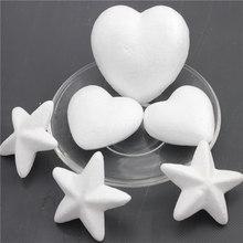10 sztuk styropianowe kulki z pianki piłka biały Craft gwiazdy dla DIY Christmas Party materiały dekoracyjne prezenty tanie tanio different 10SZT