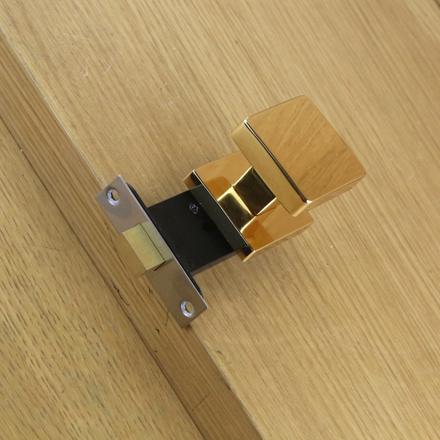 Shipping Lock Square Invisible Background Single Gold Ball The Door Handle 4 American