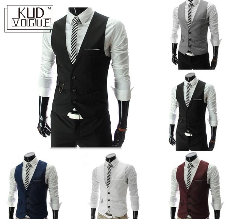 2019 New Arrival Dress Vests For Men Slim Fit Mens Suit Vest Male Waistcoat Homme Casual Sleeveless Formal Business Jacket 23