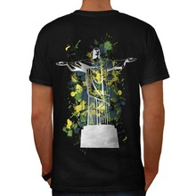 2017 Brand T Shirt Fashion  O-Neck Cotton Short Sleeve Mens Chris He Redeem Rio Brazil Back Shirts