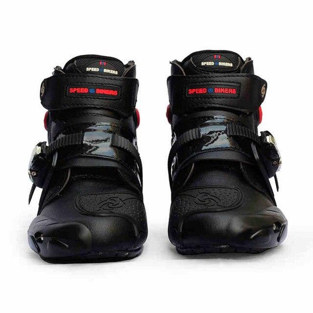 Professional motorcycle boots men motorbiker boots  botas motorcycles moto shoes  racing  pro biker,Size 40-45 black