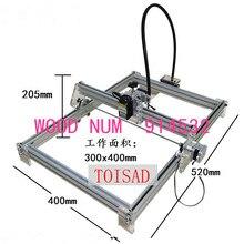 500 mw bricolage bureau mini machine de gravure laser marquage machine de sculpture, 300*400 visage de travail