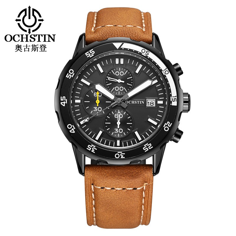 Luxury Brand OCHSTIN Watches Men Quartz Watch Men Leather Watch Fashion Casual Sports Watches  Male Clock Relogio Masculino new listing men watch luxury brand watches quartz clock fashion leather belts watch cheap sports wristwatch relogio male gift