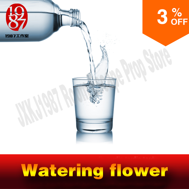 Real life room escape prop watering flower prop watering prop pouring water to unlock from JXKJ1987