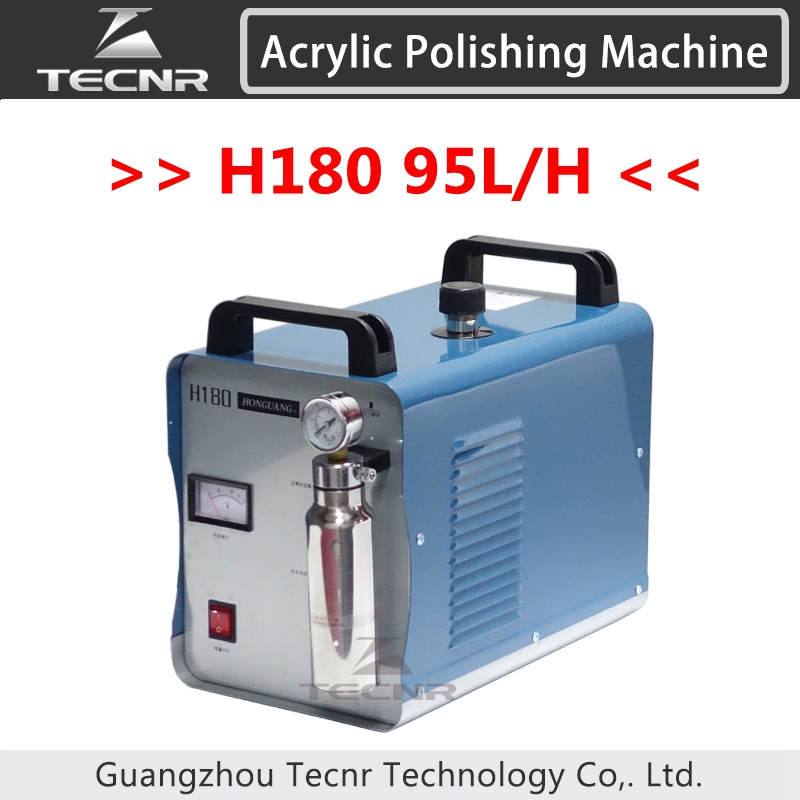 H180 95L Acrylic Flame Polishing Machine Oxygen Hydrogen Polisher Jewelry Polisher Flame Welder 220V