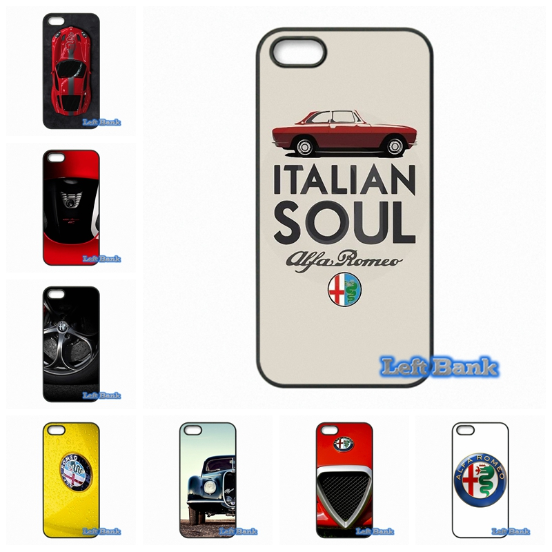 hot sale online 55148 1c25d US $4.99  Alfa Romeo Logo Phone Cases Cover For Apple iPhone 4 4S 5 5C SE 6  6S 7 Plus 4.7 5.5 iPod Touch 4 5 6-in Half-wrapped Case from Cellphones &  ...