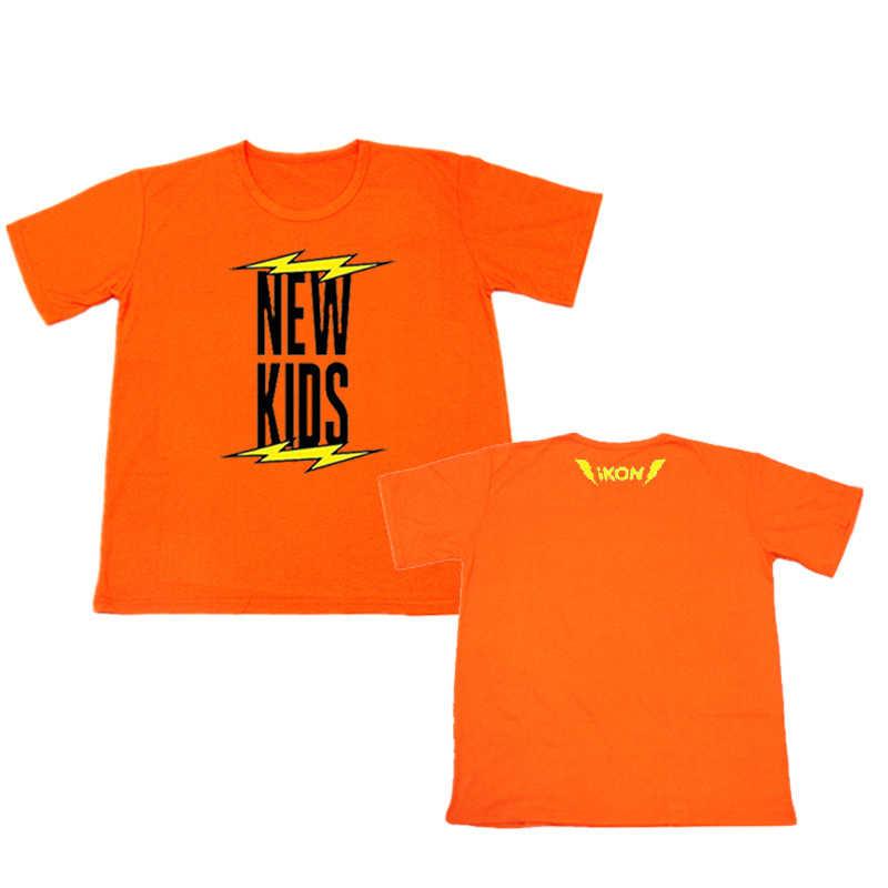 ALIPOP Kpop IKON nuevos niños empezar BI álbum camisas Hip Hop ropa holgada casual camiseta T Shirt Camisetas manga corta Camiseta DX498