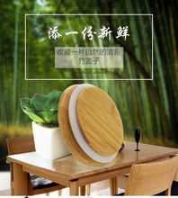 Wholesale various sizes bamboo cup coffee mug jar glass cans wooden lid bottle bamboo cover customized rubber seasoning sealed(China)