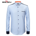 Seven7 Brand Fashion long Sleeve Shirt All-Match Leisure Shirts Men Clothes Comfortable Slim Stylish Men's Shirts 111A30090
