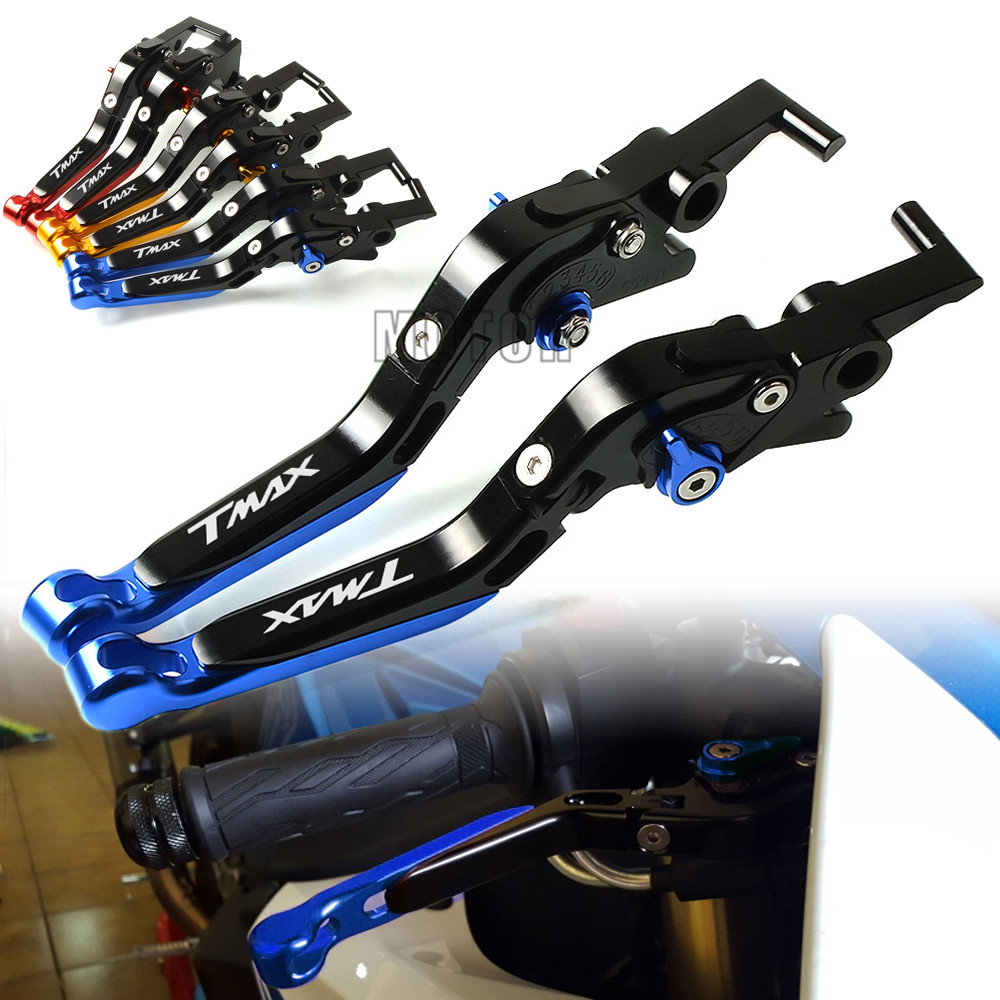 CNC Motorcycle Adjustable Folding Foldable Brake Clutch Levers For Yamaha TMAX500 TMAX530 500 2008 2018 TMAX