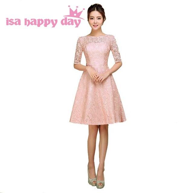 aliexpress: comprar rojo de dama de honor vestido modesto de la