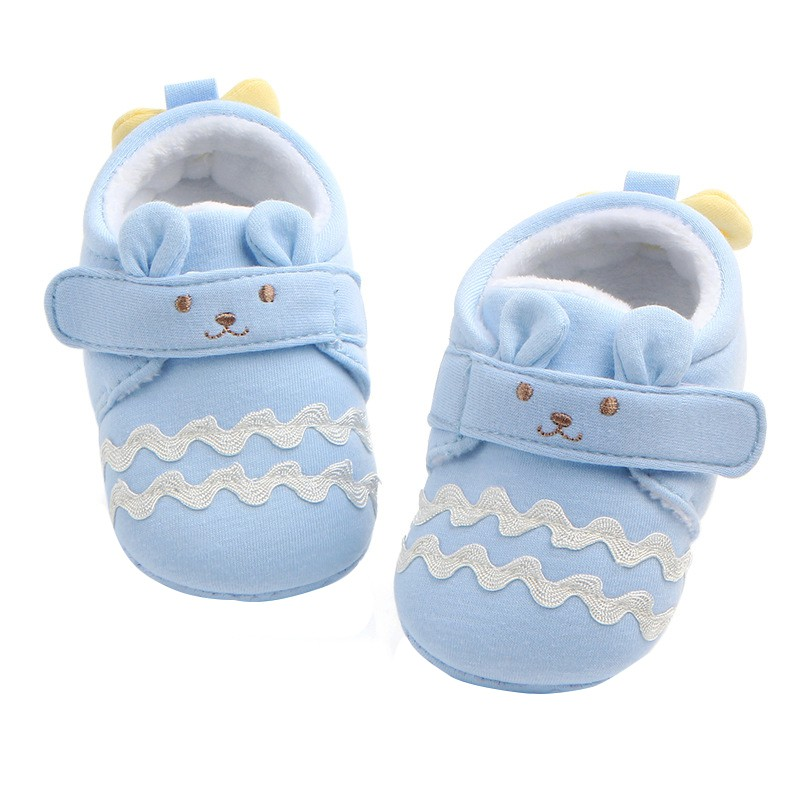 Winter Cute Shoes Baby Boys Girls Warm First Walkers Infant Non-slip Soft Slipper Crib Shoes For 0-9Month Kids