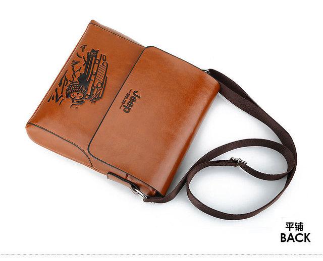 8904a09d6e9 HENGSHENG solid color men shoulder bags for fashion JEEP men leather bag of  business men messenger bag pu ...