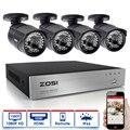ZOSI CCTV system 1080P Full HD 8CH DVR 4pcs 2.0MP 3000TVL Bullet Security Camera 36pcs IR LED Outdoor Home Surveillance System