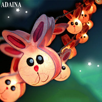 ADAINA 3M 20 Leds AC220V Rabbit Paper LED String Light Christmas Lights For Birthday Holiday Party