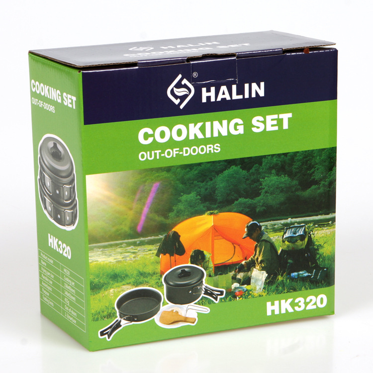 VILEAD Portable Outdoor Cookware Sets Camping Picknick Servies Pan - Kamperen en wandelen - Foto 6