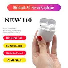 I10 СПЦ Bluetooth 5,0 наушники Pk i9s True Беспроводной стерео наушники Поддержка бинауральные вызова громкой связи Наушники для смартфона