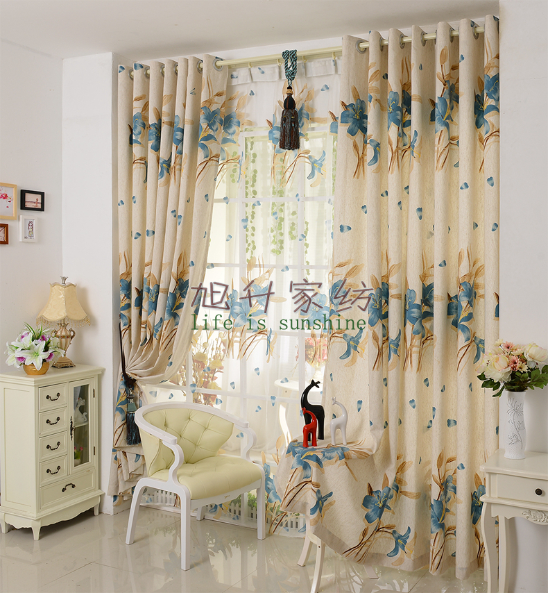 Luxury Modern Fashion Cotton and Linen Curtains for Living ...